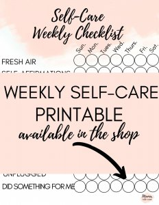 Weekly Self-Care Printable - Do you need self-care and self-love? Keep track of your self-care journey with this pretty self-care printable available in the shop! #selfcare